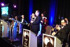 Frank Lamphere's band performs at the Little City Gala at the Hyatt Regency Chicago. November 16, 2013